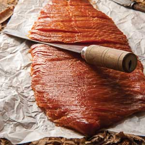 Cold Smoked Salmon Sliced Side